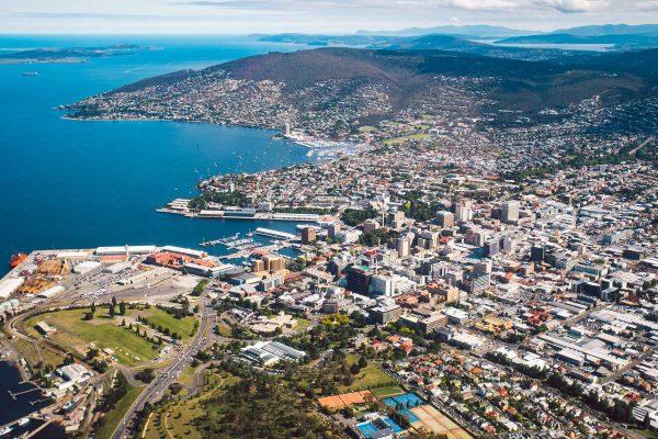 Hobart-City-Aerial